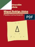 Rodrigo Alsina Miquel - La Construccion de La Noticia