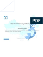 China Leather Tanning Industry Profile Cic1910