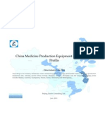 China Medicine Production Equipment Mfg. Industry Profile Cic3644