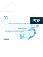 China Optical Instruments Mfg. Industry Profile Cic4141