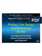 Product Line and Scheduling at Intel_Kempf_Wagner Presentation