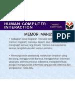 Memori Manusia Dalam IMK