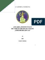 Anuar Institut de Cercetari Socio Umane Gheorghe Sincai Tg Mures 2008