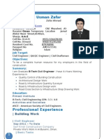 Resume Of Civil Engineer Usman Zafar