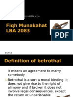 where sec 15 betrothal in IFLA come from?