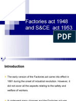 Factories Act and S&CE Act