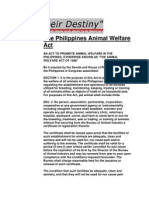 The Philippines Animal Welfare Act