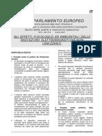 2001 - marzo - Parlamento Europeo - Gli effetti fisiologici ed ambientali delle radiazioni elettromagnetiche non ionizzanti