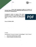 2001 - ottobre 26 - Studio di risposta a Rapporto Istisan