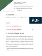Teorema da Função Inversa e da Função Implicita