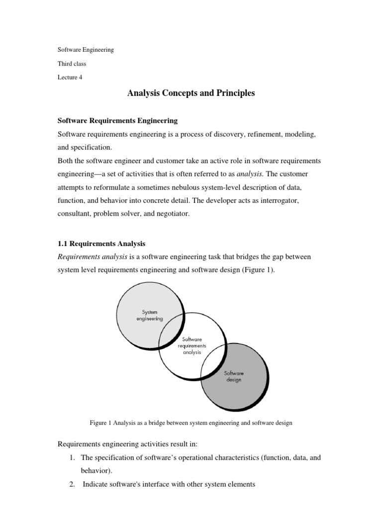 Analysis Concepts and Principles | System | Information