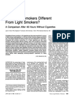 Are Heavy Smokers Different From Light Smokers
