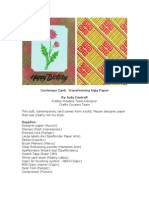 RRA 2012 Spring Fling Edition-Transforming Ugly Paper-Card by Judy Cantrell
