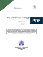 IIMA_ Agri Sector Report