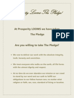 Prosperity Looms15 the Pledge