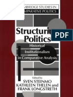 Structuring Politics Historical Institutional Ism in Comparative Analysis Cambridge Studies in Comparative Politics