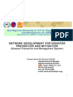 Network Development for Disaster Prevention and Mitigation