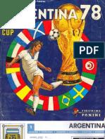 Album Cromos Panini - Mundial Futbol 1978
