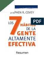 Los 7 hábitos de la gente altamente efectiva - resumen