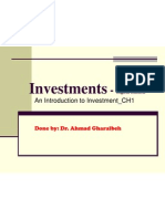Ch.1 an Introduction Into Investments-A