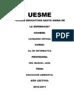Proyecto de Educacion Ambiental