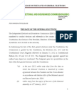 Iebc Press Release on Election Date