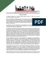 JRME- Declaración Pública - 15 de marzo de 2012