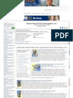 Industrial News Headlines for Super Critical Fluid Technologies, Inc