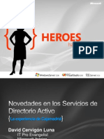 The Evolution Show Novedades en Los Servicios de Directorio Activo[1]