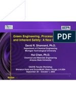 David Shonnard Green Engineering