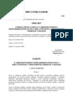 Zakon o Arhi. i Inz.djel. NN 152-08