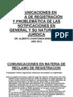 Comunicaciones ion y Contingencias Notificaciones 2012