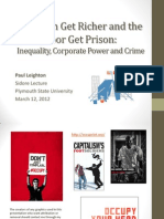 Inequality, Corporate Power and Crime