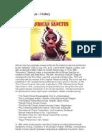 African Sanctus – History