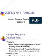 Human Resource Development - Lecture 9