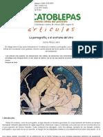 Carlos Pérez Jara, La pornografía, o el erotismo del otro, El Catoblepas 36_18, 2005