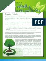 TEMA EJE DE SEMINARIO 2012 Desarrollo sostenible y educación para la paz
