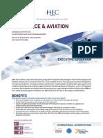 HEC EMBA Major in Aerospace and Aviation