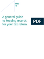 HMRC Keeping Records for Your Tax Return