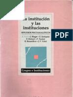 Kaës, R. y otros - La institución y las instituciones