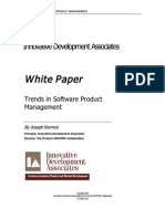 Trends in Software Product Management