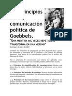 Los principios de la comunicación política de Goebbels