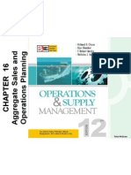 Aggregate Sales & Ops. Planning
