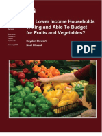Are Lower Income Households Willing and Able To Budget for Fruits and Vegetables?