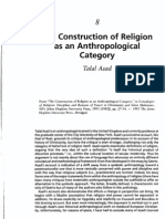 Asad, Tala. the Construction of Religion as an Anthropological Category