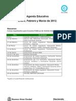 Agenda Educativa 2012