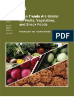 Price Trends Are Similar for Fruits, Vegetables, and Snack Foods