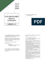 Guia de Examen Ingreso a Licenciatura Cedym