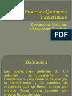 Procesos Químicos Industriales-Operaciones Unitarias