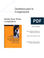 Stonewiske-Enseñanza para la comprensión